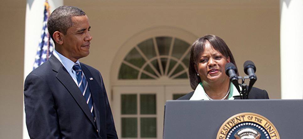 Regina Benjamin with President Obama